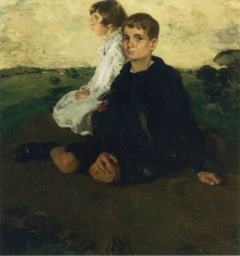 Portrait of the Children of General John A Logan | Sir William Nicholson | oil painting