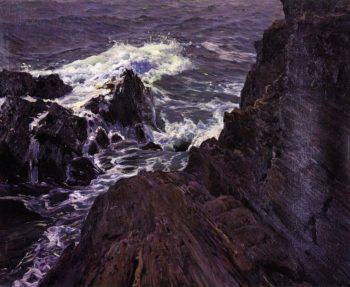 East Coast Baileys Island Casco Bay | Frederick Judd Waugh | oil painting