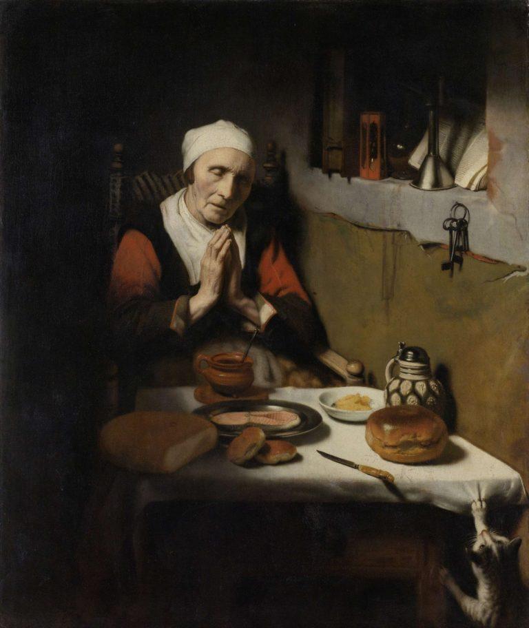 Old Woman Saying Grace