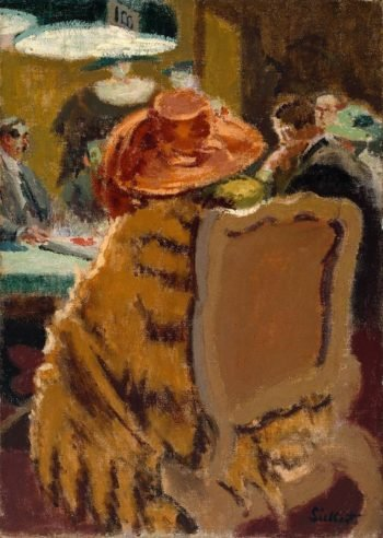 Baccarat the Fur Cape | Walter Richard Sickert | oil painting