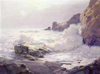 Fogg Bank | Frederick Judd Waugh | oil painting