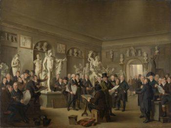 The Sculpture Gallery of the Felix Meritis Society. 1806 - 1809 | Adriaan de Lelie | oil painting