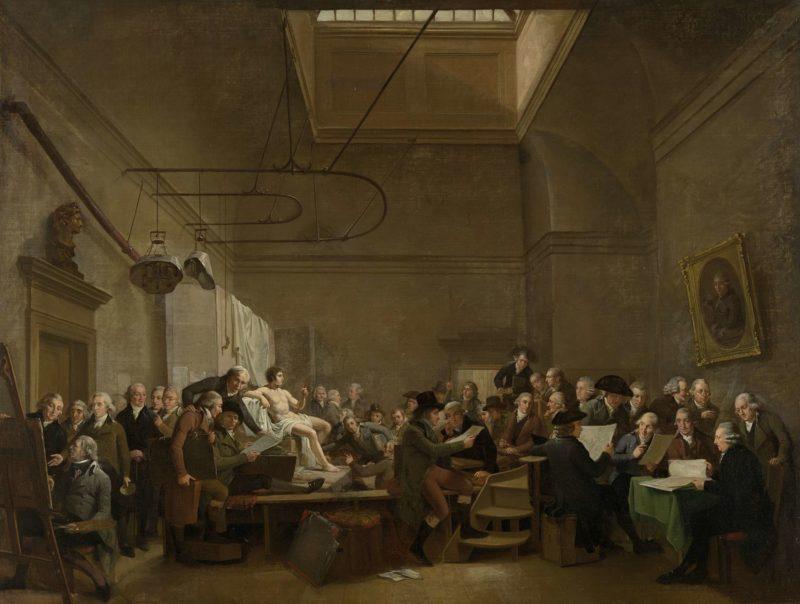 The Drawing Gallery of the Felix Meritis Society. 1801 | Adriaan de Lelie | oil painting