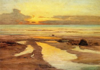 Looking West St Ives | Frederick Judd Waugh | oil painting