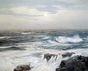 Low Moon | Frederick Judd Waugh | oil painting