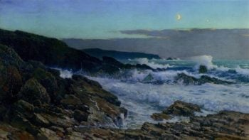Moonlight | Frederick Judd Waugh | oil painting
