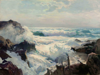 On the Maine Coast | Frederick Judd Waugh | oil painting
