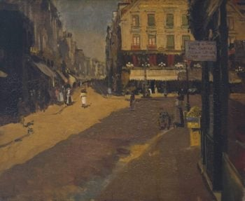 Cafe des Tribunaux Dieppe | Walter Richard Sickert | oil painting