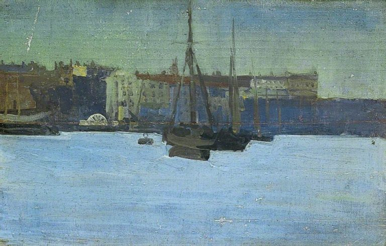 Dieppe Harbour France | Walter Richard Sickert | oil painting