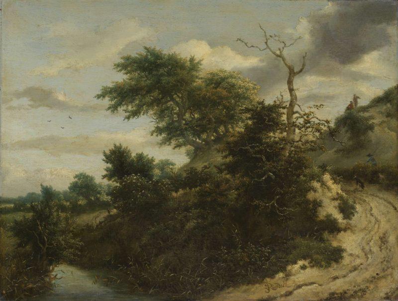 Sandy Track in the Dunes. ca. 1650 - ca. 1655 | Jacob Isaacksz. van Ruisdael | oil painting