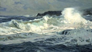 Southwesterly Gale St Ives | Frederick Judd Waugh | oil painting