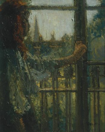 Girl at a Window Little Rachel | Walter Richard Sickert | oil painting