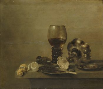 Still life with a broken glass. 1642 | Willem Claesz. Heda | oil painting