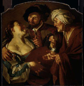 The matchmaker. after 1623 | Dirck van Baburen | oil painting