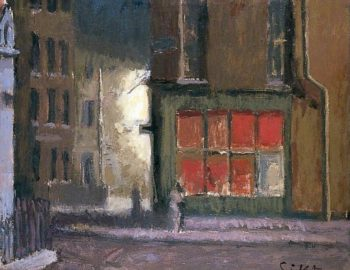 Hotel de Commerce Dieppe France | Walter Richard Sickert | oil painting