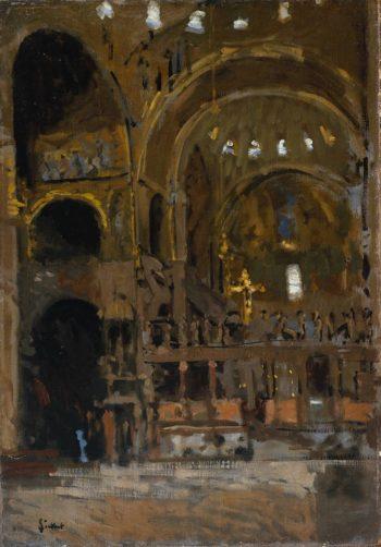 Interior of St Marks Venice | Walter Richard Sickert | oil painting