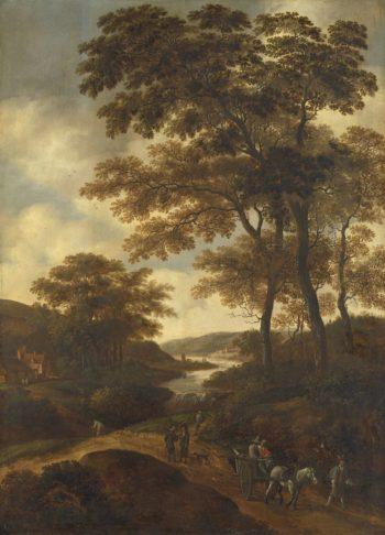 Wooded landscape.. 1640 - 1678 | Pieter Jansz. van Asch | oil painting
