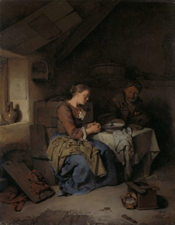 Saying Grace. 1663 | Cornelis Pietersz. Bega | oil painting