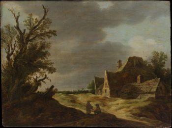 Sandy Road with a Farmhouse   Jan Josefz van Goyen   oil painting