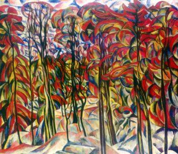 Autumn Crotona Park Bronx | Abraham A Manievich | oil painting