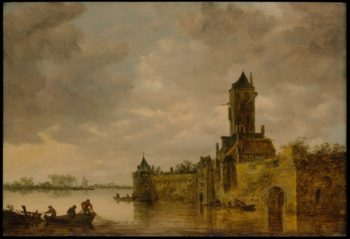 Castle by a River | Jan Josefz van Goyen | oil painting