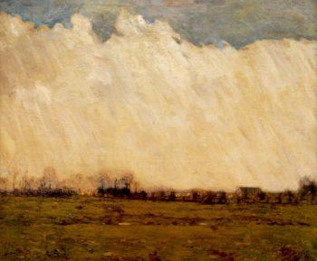 Burning Fields Bucks Countye | William Langson Lathrop | oil painting