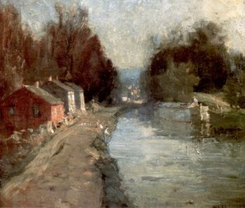 Canal at New Hope | William Langson Lathrop | oil painting