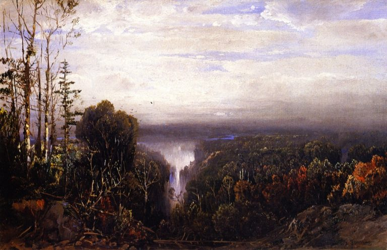 Distant Waterfall | William Louis Sonntag | oil painting
