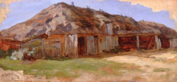 Barns | Abraham A Manievich | oil painting