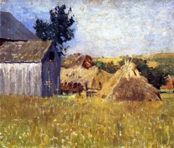 Gray Barn | William Langson Lathrop | oil painting