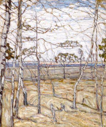 Birches | Abraham A Manievich | oil painting
