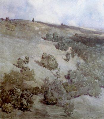 Hillside Patterns | William Langson Lathrop | oil painting