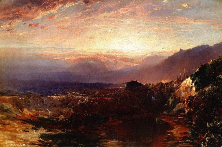 Autumn Sunset   William Louis Sonntag   oil painting