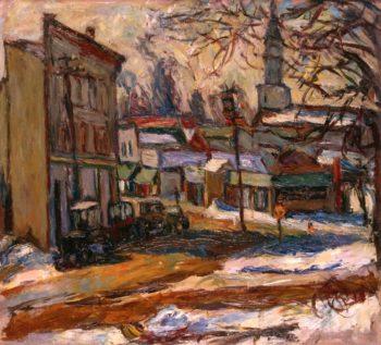 Bridgeport Connecticut | Abraham A Manievich | oil painting