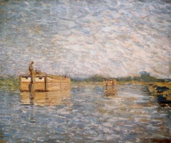 Morning on the Canal | William Langson Lathrop | oil painting