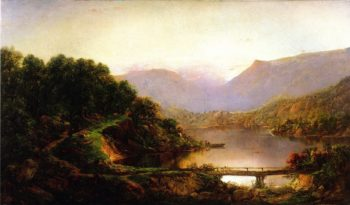 View near Cascade Bridge Valley of the Susquehanna | William Louis Sonntag | oil painting