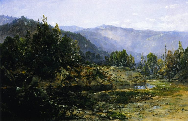 A Grey Morning Ossipee New Hampshire | William Louis Sonntag | oil painting
