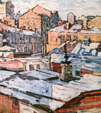 City | Abraham A Manievich | oil painting