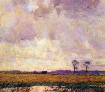 Plowing along the Canal | William Langson Lathrop | oil painting