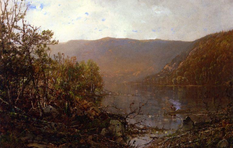 Fishing in the Adirondacks | William Louis Sonntag | oil painting