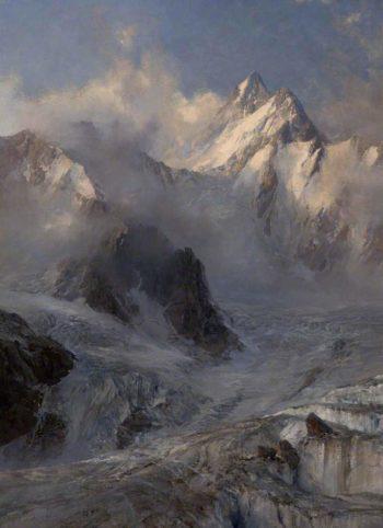 Glacier de Saleinaz | Edward Theodore Compton | oil painting