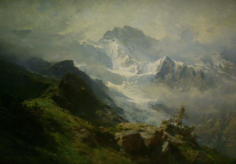 The Jungfrau | Edward Theodore Compton | oil painting