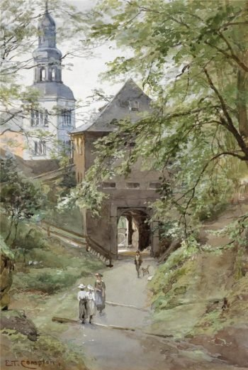 Mulln monastery in Salzburg | Edward Theodore Compton | oil painting