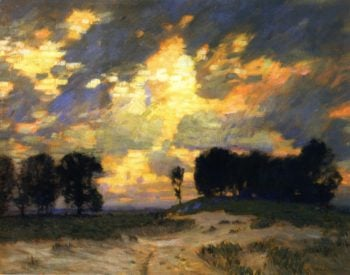 The Bonfire | William Langson Lathrop | oil painting