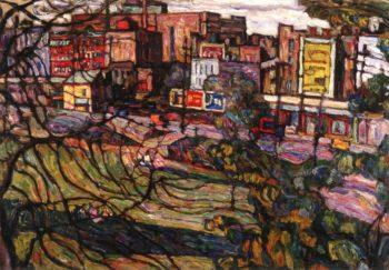 Eagle Avenue Bronx | Abraham A Manievich | oil painting
