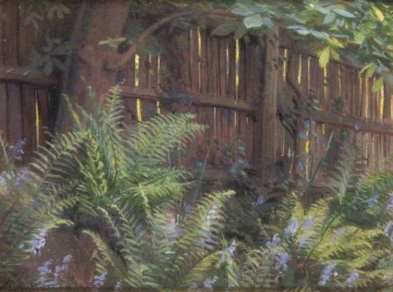 Bluebells and Ferns | Charles Ernest Butler | oil painting