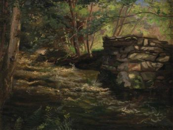 Falls in the Nant Col Llanbedr near Harlech | Charles Ernest Butler | oil painting