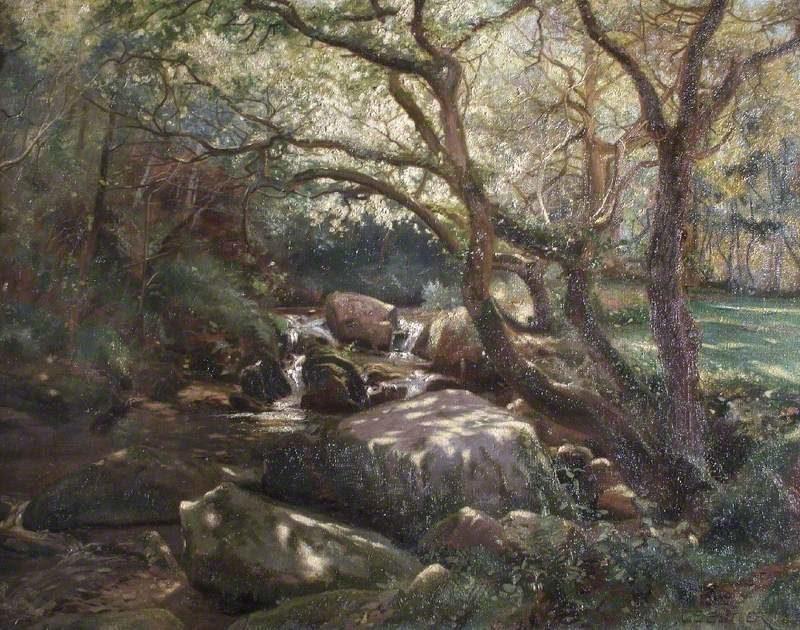 Near Watersmeet Lynton Devon | Charles Ernest Butler | oil painting