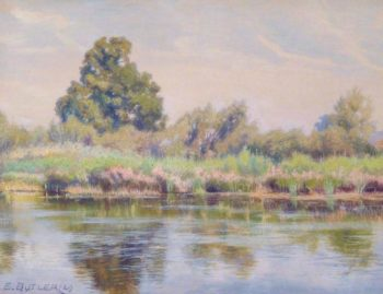 Reeds and Rushes at Tilehurst Reading Berkshire | Charles Ernest Butler | oil painting