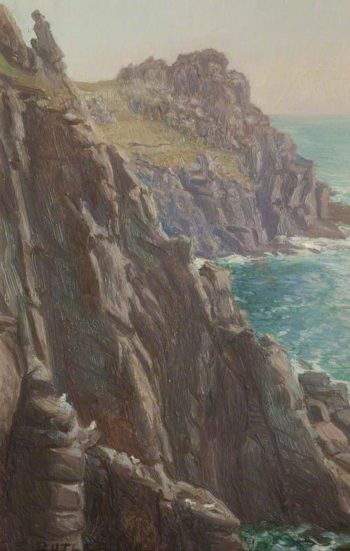Rocks at Lands End | Charles Ernest Butler | oil painting